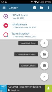 تنزيل برنامج Casper snapchat بديل لسناب شات