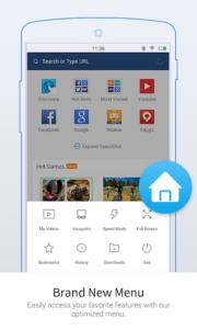 متصفح فتح المواقع المحجوبة للموبايل UC Browser Mini